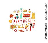 portugal clipart collection.... | Shutterstock .eps vector #1230334630