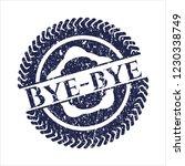 blue bye bye distress rubber... | Shutterstock .eps vector #1230338749