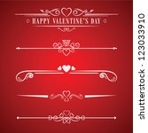 valentines day design... | Shutterstock .eps vector #123033910
