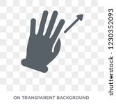 vertical scroll gesture icon.... | Shutterstock .eps vector #1230352093