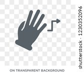 turn right gesture icon. trendy ... | Shutterstock .eps vector #1230352096