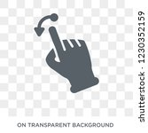 push to minimize gesture icon.... | Shutterstock .eps vector #1230352159