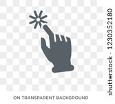 push and wait gesture icon.... | Shutterstock .eps vector #1230352180