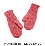red mittens isolated on white... | Shutterstock . vector #1230353410