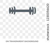 dumbbell icon. trendy flat... | Shutterstock .eps vector #1230356620