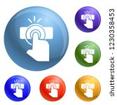 finger touch icons set vector 6 ...