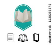 text book isolated icon | Shutterstock .eps vector #1230358876
