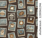 retro postage seamless... | Shutterstock .eps vector #1230361246