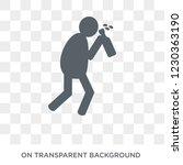 drunk human icon. trendy flat... | Shutterstock .eps vector #1230363190