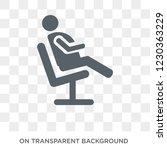 comfortable human icon. trendy... | Shutterstock .eps vector #1230363229