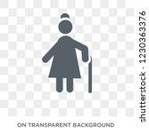 grandmother icon. trendy flat...   Shutterstock .eps vector #1230363376