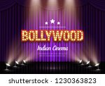 bollywood indian cinema. movie... | Shutterstock .eps vector #1230363823