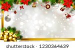 light christmas background with ... | Shutterstock .eps vector #1230364639