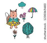 vector images of squirrel ... | Shutterstock .eps vector #1230365683