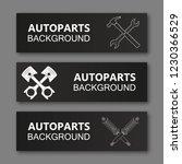 auto parts banner. modern... | Shutterstock .eps vector #1230366529