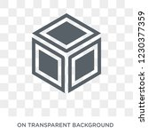side to side of a cube icon.... | Shutterstock .eps vector #1230377359