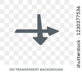 intersection icon. intersection ... | Shutterstock .eps vector #1230377536
