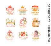 cooking studio logo design set  ... | Shutterstock .eps vector #1230386110