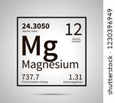 magnesium chemical element with ... | Shutterstock .eps vector #1230396949