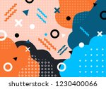 abstract geometric form with... | Shutterstock .eps vector #1230400066