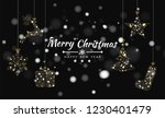 merry christmas background with ... | Shutterstock .eps vector #1230401479