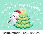 merry christmas polar bears... | Shutterstock .eps vector #1230402226