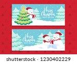 merry christmas polar bears... | Shutterstock .eps vector #1230402229