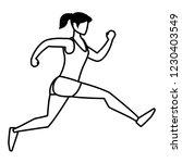 fitness girl running design | Shutterstock .eps vector #1230403549