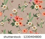 flowers are full of romance the ... | Shutterstock . vector #1230404800