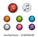 abstract vector glossy web... | Shutterstock .eps vector #123040630
