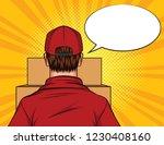 vector color pop art style...   Shutterstock .eps vector #1230408160