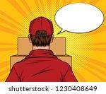 color pop art style... | Shutterstock . vector #1230408649