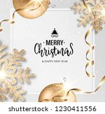 abstract vector christmas... | Shutterstock . vector #1230411556
