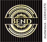 bend gold badge or emblem   Shutterstock .eps vector #1230411970