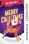 christmas card design template... | Shutterstock .eps vector #1230412429