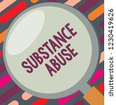 text sign showing substance... | Shutterstock . vector #1230419626