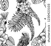 seamless pattern of hand drawn... | Shutterstock .eps vector #1230423103