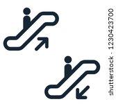 Escalator Elevator Icon. Vecto...