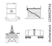 vector illustration of oil and... | Shutterstock .eps vector #1230423916