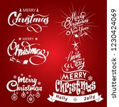 merry christmas and happy new... | Shutterstock .eps vector #1230424069
