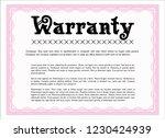 pink retro vintage warranty... | Shutterstock .eps vector #1230424939