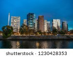 majestic  futuristic cityscape... | Shutterstock . vector #1230428353