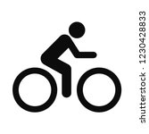 the man ride bicycle icon .... | Shutterstock .eps vector #1230428833
