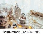 white christmas decor  warm... | Shutterstock . vector #1230433783