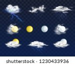 set of weather forecast app... | Shutterstock .eps vector #1230433936