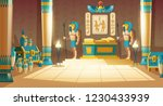 vector cartoon pharaoh tomb... | Shutterstock .eps vector #1230433939