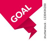 goal sign label. goal speech... | Shutterstock .eps vector #1230434200
