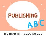 text sign showing publishing.... | Shutterstock . vector #1230438226