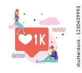 social media bubble with heart... | Shutterstock .eps vector #1230439993