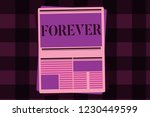 writing note showing forever.... | Shutterstock . vector #1230449599